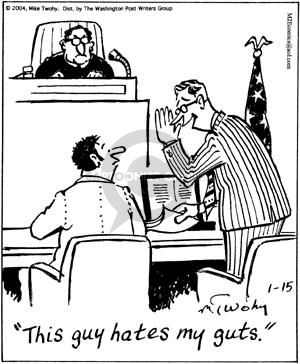 Cartoonist Mike Twohy  That's Life 2004-01-15 defendant