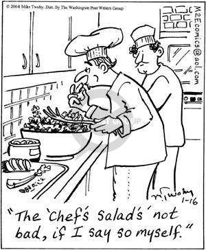 Comic Strip Mike Twohy  That's Life 2004-01-16 food review