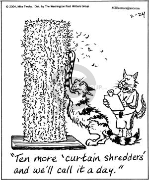 Comic Strip Mike Twohy  That's Life 2004-02-24 cat scratcher