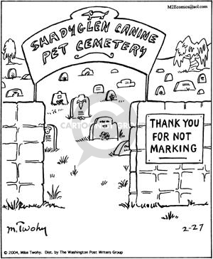 Comic Strip Mike Twohy  That's Life 2004-02-27 cemetery