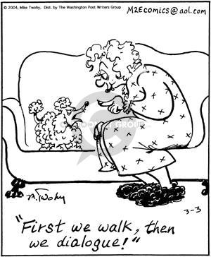 First we walk, then we dialogue!