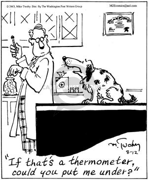Comic Strip Mike Twohy  That's Life 2003-08-12 veterinarian