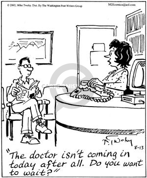 Cartoonist Mike Twohy  That's Life 2003-08-13 patient