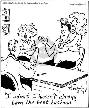 Cartoonist Mike Twohy  That's Life 2003-08-29 marriage counselor