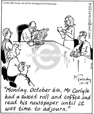 Cartoonist Mike Twohy  That's Life 2003-10-15 agenda