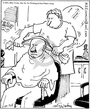 Comic Strip Mike Twohy  That's Life 2003-10-25 haircut