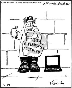 Cartoonist Mike Twohy  That's Life 2004-03-19 wireless