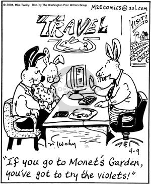 Cartoonist Mike Twohy  That's Life 2004-04-09 plan