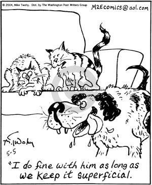 Comic Strip Mike Twohy  That's Life 2004-05-05 cat dog