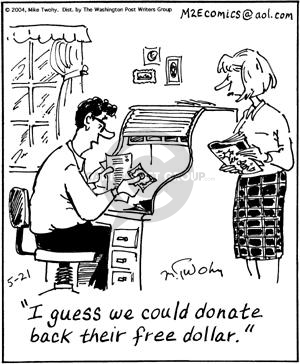 Comic Strip Mike Twohy  That's Life 2004-05-21 donor