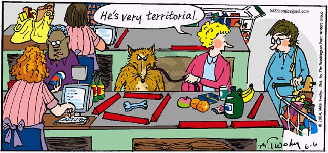 Comic Strip Mike Twohy  That's Life 2004-06-06 dog bone