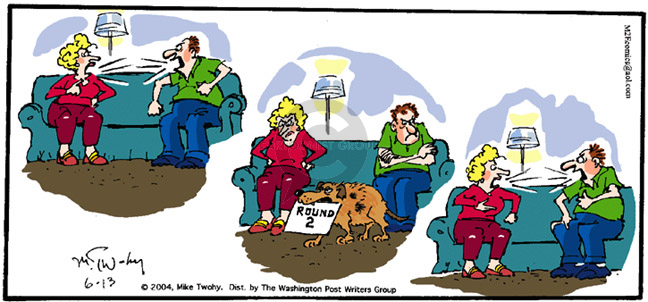 Comic Strip Mike Twohy  That's Life 2004-06-13 argument