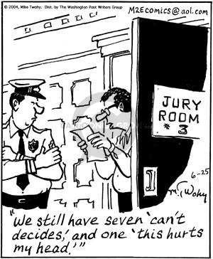 Cartoonist Mike Twohy  That's Life 2004-06-25 jury
