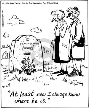 Comic Strip Mike Twohy  That's Life 2004-07-24 cemetery