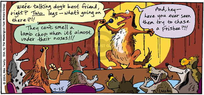 Comic Strip Mike Twohy  That's Life 2004-07-25 dog food