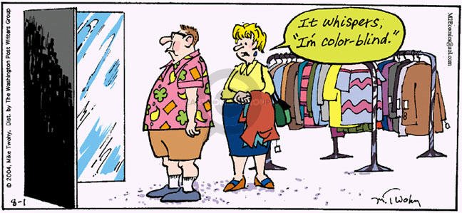 Comic Strip Mike Twohy  That's Life 2004-08-01 garment