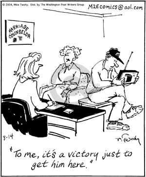 Cartoonist Mike Twohy  That's Life 2004-08-14 therapy
