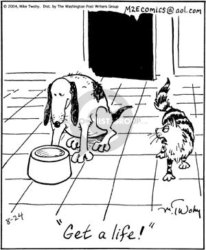 Comic Strip Mike Twohy  That's Life 2004-08-24 dog and cat