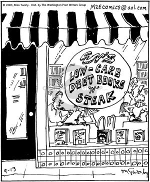 Cartoonist Mike Twohy  That's Life 2004-09-13 cooking