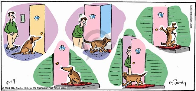 Comic Strip Mike Twohy  That's Life 2004-09-19 dog