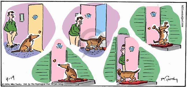 Cartoonist Mike Twohy  That's Life 2004-09-19 break