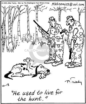 Comic Strip Mike Twohy  That's Life 2004-10-18 hunting dog