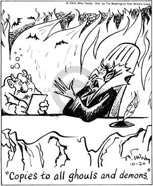 Comic Strip Mike Twohy  That's Life 2004-10-20 ghoul