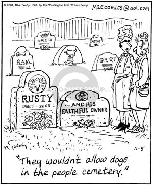 Comic Strip Mike Twohy  That's Life 2004-11-05 cemetery