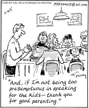 Comic Strip Mike Twohy  That's Life 2004-11-25 family dinner