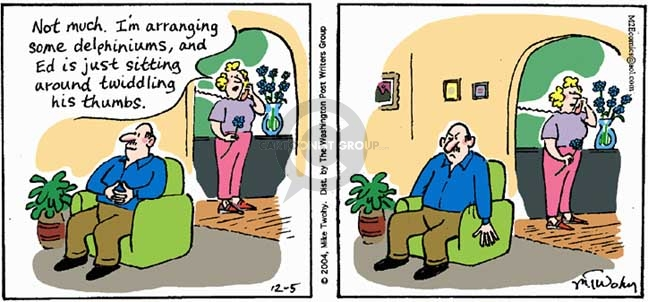 Comic Strip Mike Twohy  That's Life 2004-12-05 flower bouquet
