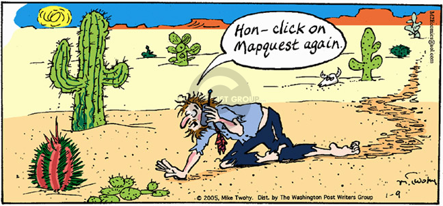 Comic Strip Mike Twohy  That's Life 2005-01-09 desert