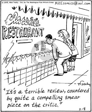 Comic Strip Mike Twohy  That's Life 2005-02-08 food review