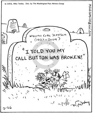 Comic Strip Mike Twohy  That's Life 2005-02-26 cemetery