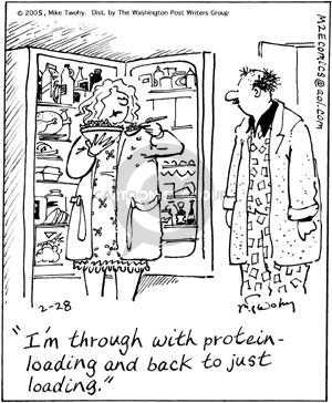 Comic Strip Mike Twohy  That's Life 2005-02-28 protein