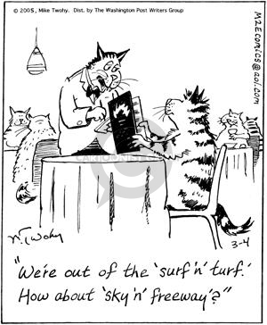 Comic Strip Mike Twohy  That's Life 2005-03-04 cat food
