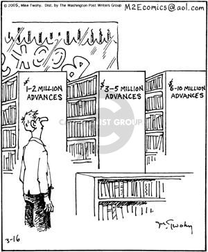 Cartoonist Mike Twohy  That's Life 2005-03-16 bookshop