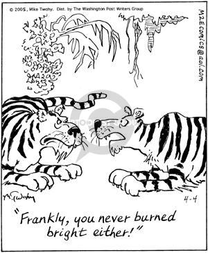 Comic Strip Mike Twohy  That's Life 2005-04-04 burn