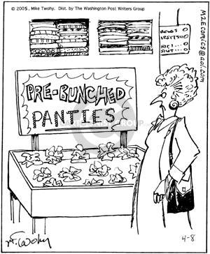 Comic Strip Mike Twohy  That's Life 2005-04-08 shopper