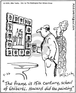 Comic Strip Mike Twohy  That's Life 2005-04-26 art school