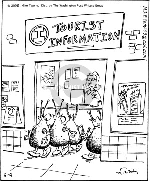 Comic Strip Mike Twohy  That's Life 2005-05-09 tourist