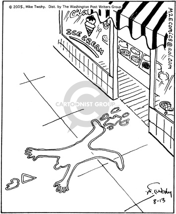 Comic Strip Mike Twohy  That's Life 2005-08-13 crime scene