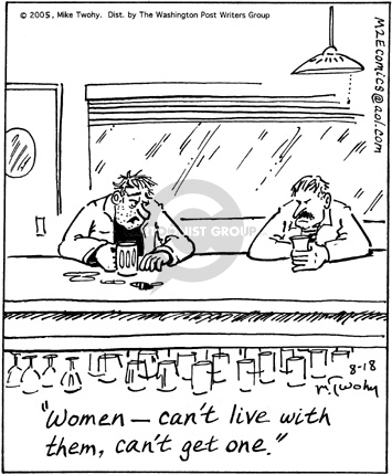 Comic Strip Mike Twohy  That's Life 2005-08-18 female