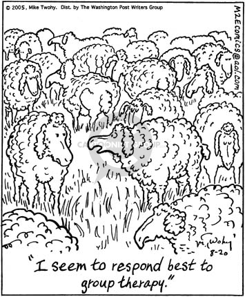 Cartoonist Mike Twohy  That's Life 2005-08-20 herd