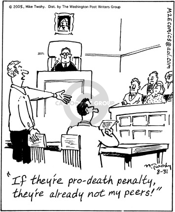 Comic Strip Mike Twohy  That's Life 2005-08-31 death penalty