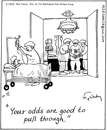 Cartoonist Mike Twohy  That's Life 2005-10-08 patient