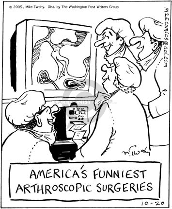 Americas Funniest Arthroscopic Surgeries.