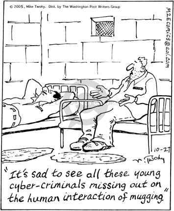 Cartoonist Mike Twohy  That's Life 2005-10-27 cell