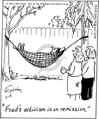 Comic Strip Mike Twohy  That's Life 2005-11-05 activity
