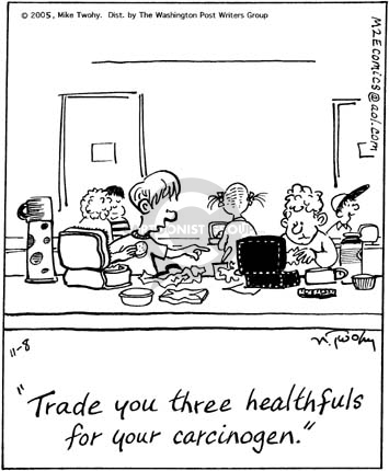 Cartoonist Mike Twohy  That's Life 2005-11-08 health food