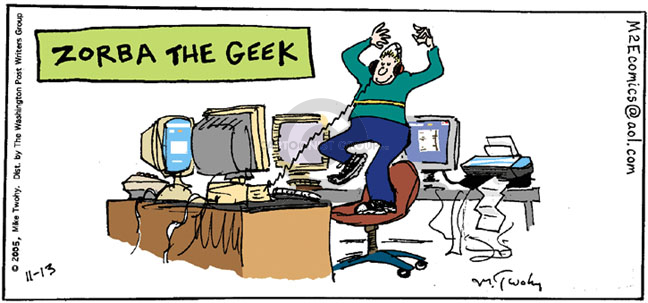 Cartoonist Mike Twohy  That's Life 2005-11-13 technology